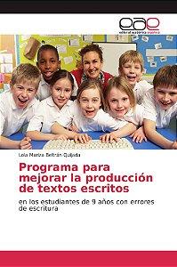 Programa para mejorar la producción de textos escritos