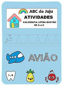 Atividades Caligrafia Letra Bastão: Caligrafia de A a Z - AB