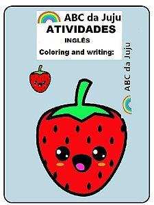 Atividades de Inglês Frutas, Cores e Letras ABC