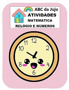 Atividades de Relógio e Números para Crianças: Matemática