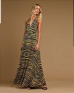 vestido longo zebra kl vr