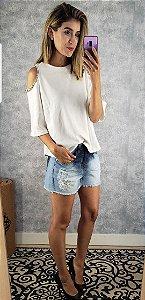 Blusa moleton bordado