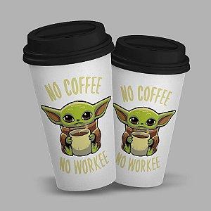 Copo para Viagem c/ Tampa 600ml Star Wars - No Coffee No Workee