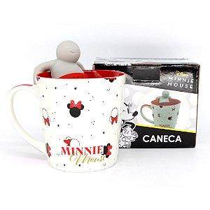 Caneca 350ml c/ Infusor p/ Chá Disney - Minnie Mouse