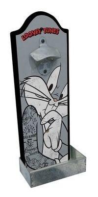 Abridor de Garrafa com Dispenser Looney Tunes - Pernalonga Preocupado