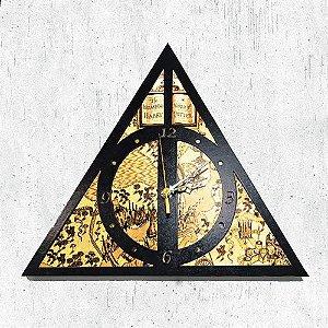 Relógio de Parede Harry Potter -  Relíquias da Morte