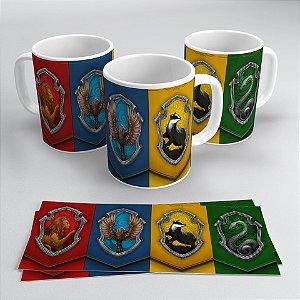 Caneca Harry Potter - Casas de Hogwarts