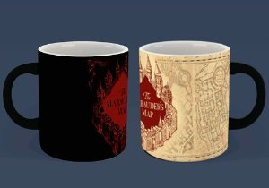 Caneca Mágica Reativa Harry Potter - Mapa do Maroto