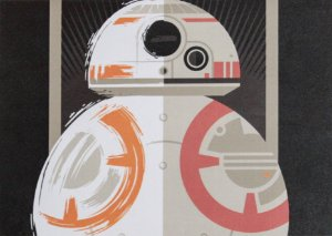 Placa Decorativa Star Wars - BB-8