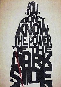 Placa Decorativa Star Wars - Darth Vader