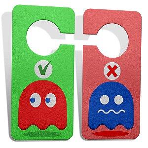 Aviso de Porta Ecológico Pac Man - Ghosts