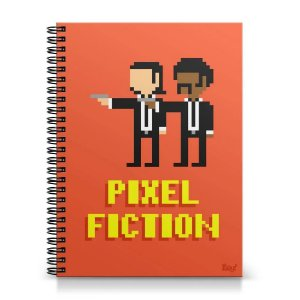 Caderno 1 Matéria - Pixel Fiction (capa dura)