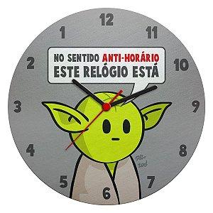 Relógio de Parede Ecológico Star Wars - Yoda