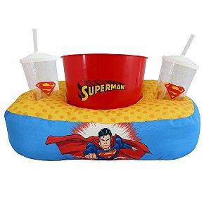 Kit Almofada de Pipoca e Copos Superman