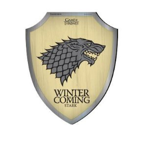 Placa Decorativa Escudo Game of Thrones - Stark House