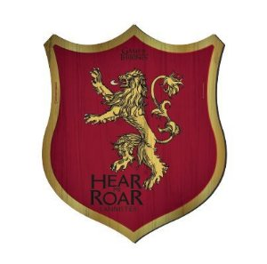 Placa Decorativa Escudo Game of Thrones - Lannister House