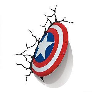 Luminária 3D Light FX Marvel - Escudo Capitão América