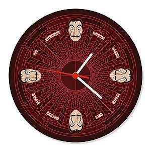 Relógio de Parede La Casa de Papel