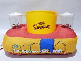 Kit Almofada de Pipoca e Copos Simpsons