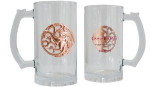 Caneca com Brasão de Metal 450ml Game Of Thrones - Targaryen