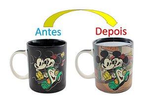 Caneca Mágica Reativa Mickey e Minnie