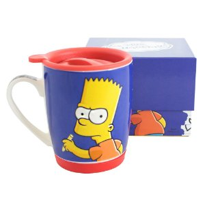 Caneca com Tampa 350ml Simpsons - Team Bart