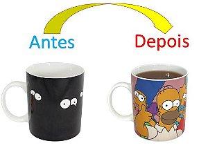 Caneca Mágica Reativa Simpsons - Família