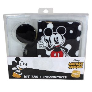 Kit Viagem (Passaporte + Tag) Disney - Mickey