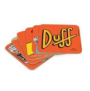 Kit Porta Copo 6 Pçs Simpsons - Duff Beer