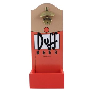 Abridor de Garrafa com Dispenser Simpsons - Duff Beer