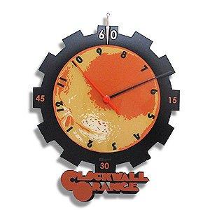 Relógio de Parede Laranja Mecânica