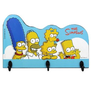 Pendurador de 3 ganchos Simpsons - Família