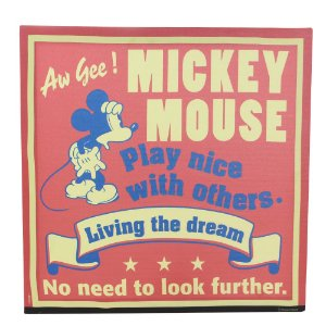 Quadro Canvas Disney - Mickey Living The Dream