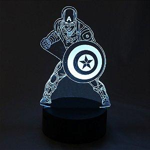 Luminária LED Marvel - Capitão América