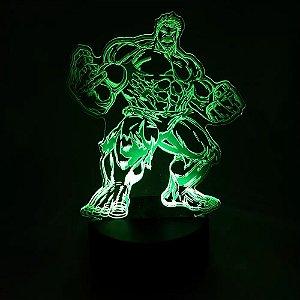 Luminária LED Marvel - Hulk