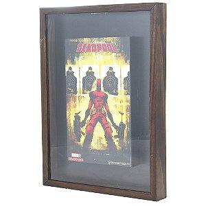 Quadro Coleção de Tampinhas Marvel - Deadpool