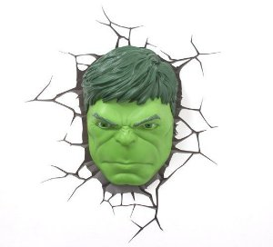 Luminária 3D Light FX Marvel - Hulk