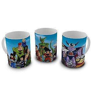 Caneca Dragon Ball - Heróis e Vilões