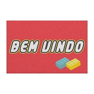 Capacho Vinil LEGO - Bem Vindo