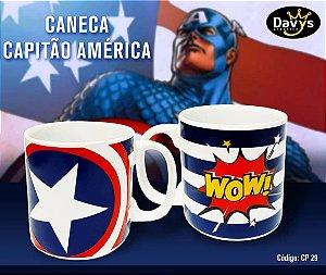 Caneca 300ml Davys - Capitão América