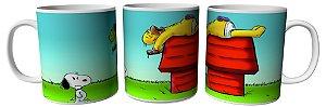 Caneca 300ml Homer e Snoopy
