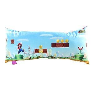 Almofada Fibra Veludo Super Mario - Cenário