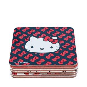 Kit Porta Copo 6 Pçs Hello Kitty