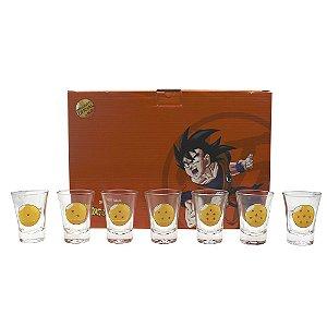 Kit Copos de Shots 60ml Dragon Ball Z - 7 Esferas do Dragão