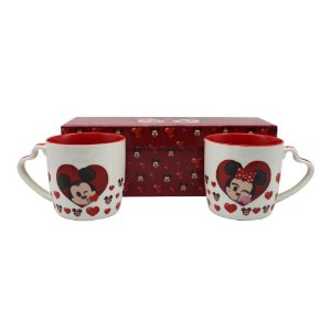 Kit c/2 Canecas Mickey & Minnie Emoji