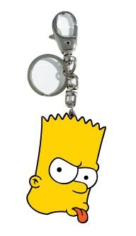 Chaveiro de Metal Simpsons - Bart