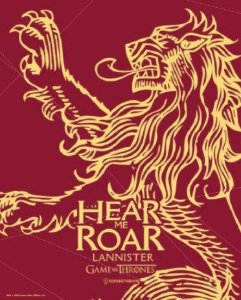 Placa de Metal 26x19 Lannister - Hear me Roar
