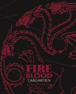 Placa de Metal 26x19 Targaryen - Fire and Blood