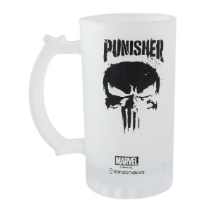 Caneca de Chop Fosca 450ml Marvel - Punisher