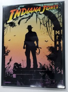 Quadro de Metal 26x19 Indiana Jones